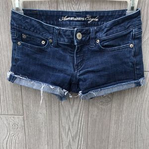 American Eagle Outfitters Denim Cuffed Shortie